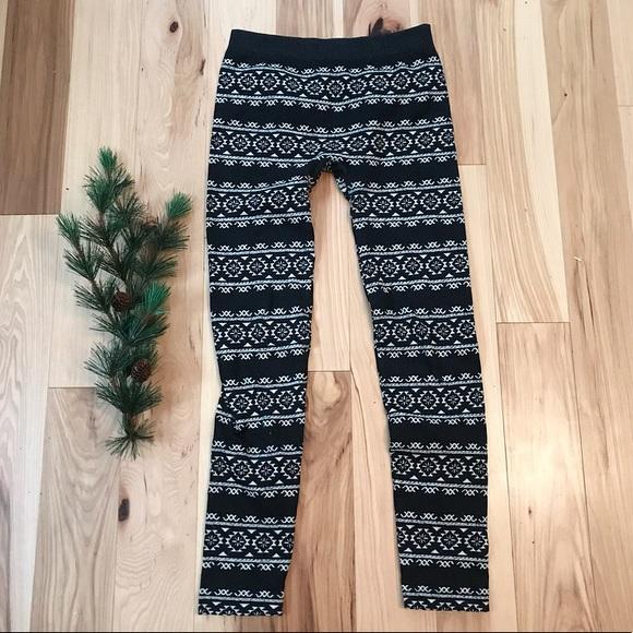 a495b57961a67 Pink Republic Pants | Fleece Lined Winter Print Leggings | Poshmark